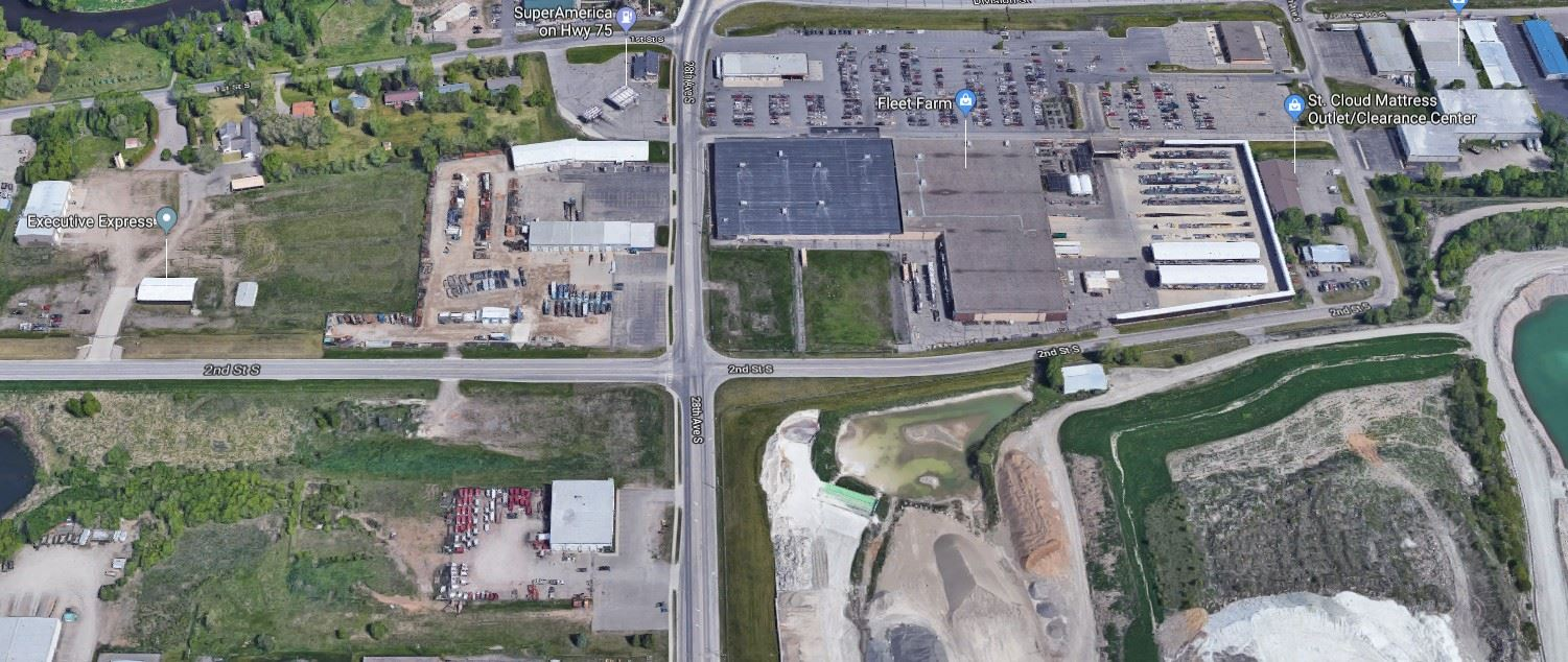 Aerial View of CSAH 138 and 28th Ave S Intersection