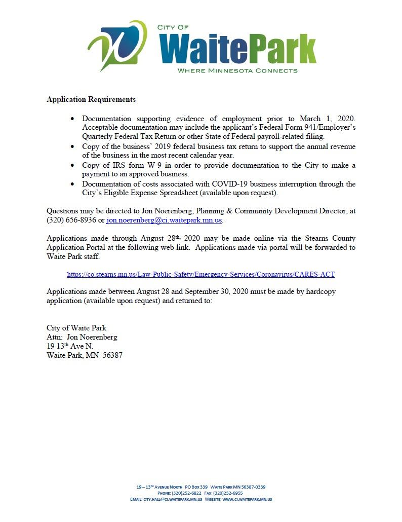 WP CARES Act Small Business Relief Grant Information Pg2