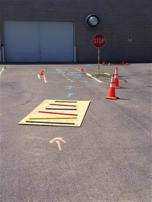 Bike Course Bump Board